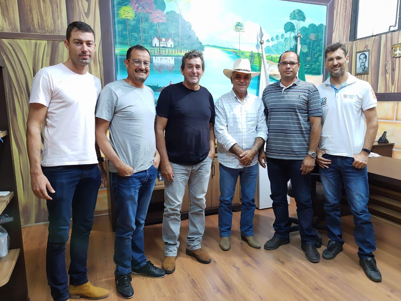 Prefeito João Rufino, Secretário Alcides Guerra com a Diretoria do Tracman